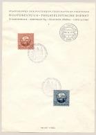 Nederland - 1949 - Stempel Ronde Tafel Conferentie En Grafelijke Zalen Op Verzamelblad Met UPU-serie - Poststempels/ Marcofilie