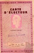 CARTE D'ELECTEUR - HAUTES-PYRENEES 1965 -ARGELES-GAZOST - Cartes
