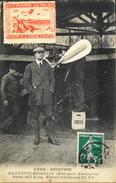 CPA. - FRANCE - LYON-AVIATION - HAUVETTE-MICHELIN Devant Le Monoplan Antoinette - Vignette Lyon Aviation 1910 - TBE - Aviateurs