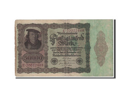 Allemagne, 50,000 Mark, 1922, KM:80, TB - [ 3] 1918-1933 : Weimar Republic