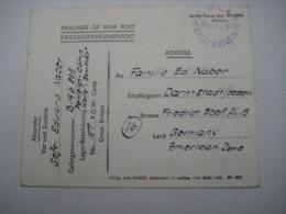 1946., Prisonner Of War , Camp Penleiggh , German Soldiers , Postcard Send To Germany - 1902-1951 (Reyes)