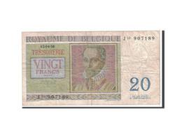 Belgique, 20 Francs, 1956, KM:132b, 1956-04-03, B+ - [ 6] Treasury