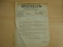 LETTRE RECOMMANDEE MICHELIN 1946 - Frankreich