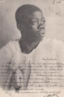 Algérie - Portrait Jeune Homme Noir - Cachet Batna Constantine 1904 - Hommes