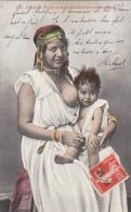Algérie - Femme Arabe Allaitant Son Enfant - Franchise Militaire - Algérie