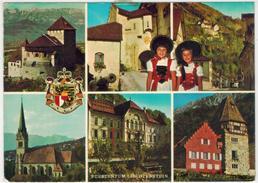 Liechtenstein  -  6 Ansichten  Gelaufen1973 - Liechtenstein