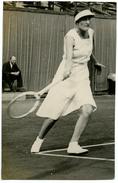 PHOTO ROLAND GARROS 1935 - MELLE BARBIER PENDANT LE MATCH CONTRE MELLE ORLANDINI-RADO - Tennis