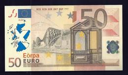 Test Note, Schottland  50 EURO, Testnote, Beids. Druck, RRRR, UNC, 140 X 77 Mm, Trial, Design-Studie - EURO