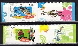 ADH 14 - FRANCE Adhésif N° 271 + 273 Neufs** Looney Tunes - Autoadesivi