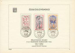 Czechoslovakia / First Day Sheet (1960/09) Praha (1e): Czechoslovak Sports Games 1960
