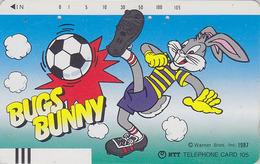 Télécarte Ancienne Japon / NTT 230-078 - BD COMICS Cartoon - LAPIN BUGS BUNNY / Football - Japan Front Bar Phonecard