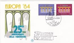 San Marino 1984 FDC Europa CEPT (T6-35) - Europa-CEPT