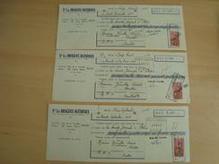 LOT DE 3 CHEQUES LES DRAGUES BLESOISES BLOIS 1954 - Chèques & Chèques De Voyage