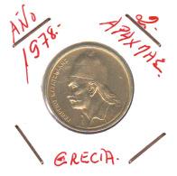 GRECIA  -  GREECE -  MONEDA DE  2 APAXMAI  AÑO 1978  -  Nickel-Brass, 24 Mm. - Grecia