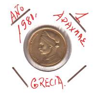 GRECIA  -  GREECE -  MONEDA DE  1  DRACHMA   AÑO 1981 -   Nickel-Brass, 21 Mm. - Grecia
