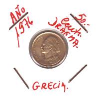 GRECIA  -  GREECE -  MONEDA DE  50  LEPTA   AÑO 1976 -   Nickel-Brass, 18 Mm. - Grecia