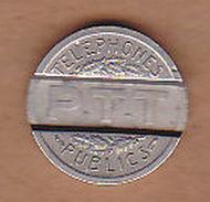 AC -  REPUBLIQUE FRANCAISE PTT 1937 TELEPHONES PUBLICS TOKEN - JETON - Monetary /of Necessity