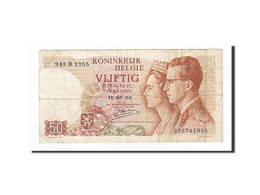 Belgique, 50 Francs, KM:139, 1966-05-16, TTB - [ 6] Treasury