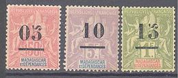 """Madagascar: Yvert N° 48/50*; Type """"Groupe"""" - Madagascar (1889-1960)"""
