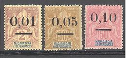 """Madagascar: Yvert N° 51/53*; Type II """"Groupe"""" - Madagascar (1889-1960)"""