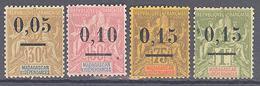 """Madagascar: Yvert N° 52/55*; Type I """"Groupe"""" - Madagascar (1889-1960)"""