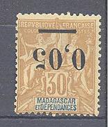 "Madagascar: Yvert N° 52a*; Type I ""Groupe""; Variété Surcharge Renversée - Madagascar (1889-1960)"