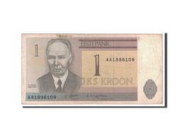 Estonia, 1 Kroon, 1992, KM:69a, B - Estonie