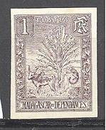 Madagascar: Yvert N° 63b(*); Non Dentelé - Madagascar (1889-1960)
