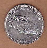 AC -  PORSCHE CARRERA 1955 SHELL WELTBERUHMTE SPORTWAGEN TOKEN - JETON - Monetary /of Necessity