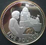 Jersey, 5 Pounds 2006 - Argent / Silver Proof - Guilded - Jersey