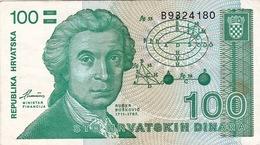 CROATIA - HRVATSKA -  100 Dinara - Croatia