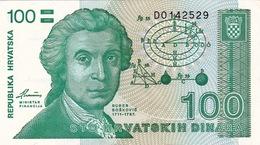 CROATIA - HRVATSKA -  100 Dinara 1991 - Croatie