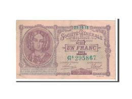 Belgique, 1 Franc, 1918, KM:86b, 1918-10-29, TTB - [ 3] Ocupaciones Alemanas En Bélgica