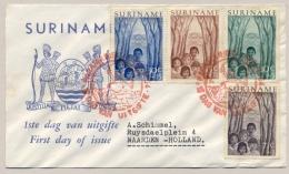 Suriname - 1954 - Jeugdwerk 1e Dag Op Brief Naar Naarden / Nederland - E3 - Suriname ... - 1975