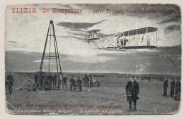 Reklamekaart Elixir De Kempenaar - Vliegmachien Wilbur Wright - De Aankomst - ....-1914: Précurseurs