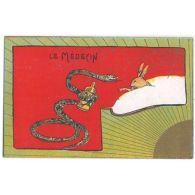 CPA ILLUSTRATEUR - Le Médecin - Lapin Serpent Poison [ILL 048 FR] - Illustrateurs & Photographes