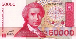 CROATIA - HRVATSKA -  50000 Dinara 1993 - Croatie