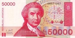 CROATIA - HRVATSKA -  50000 Dinara 1993 - Croatia