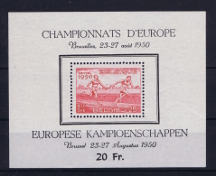 Belgium:  Block Nr 29 MNH/**/postfrisch/neuf Sans Charniere 1950 Has A Light Gumfold - Blocs 1924-1960