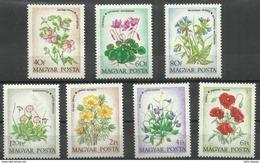 """Ungarn 2887-2893A """"Feldblumen """" Postfrisch Mi.: 4,50 € - Hongrie"""
