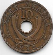 *east Africa 10 Cents 1933   Km 19    Vf - British Colony