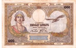 Yugoslavia , Kingdom 1000 Dinara 1931 - Yugoslavia