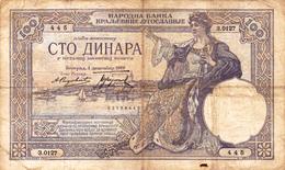 Yugoslavia , Kingdom 100 Dinara 1929 - Yugoslavia