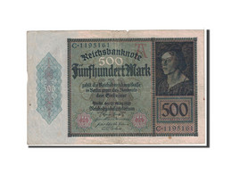 Allemagne, 500 Mark, 1922, KM:73, 1922-03-27, TB - [ 3] 1918-1933 : Repubblica  Di Weimar