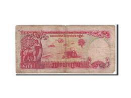 Cambodge, 500 Riels, 1991, KM:38a, B - Cambodia