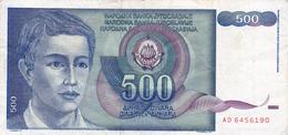 Yugoslavia , SFRJ  500  Dinara 1990 - Yugoslavia