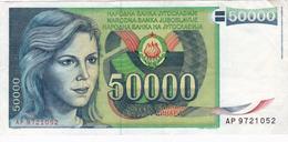 Yugoslavia , SFRJ  50000  Dinara 1988 - Yugoslavia