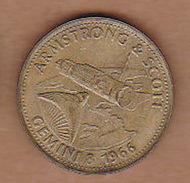 AC -  ARMSTRONG & SCOTT GEMINI 8 1966 SHELL TOKEN - JETON - Monetary /of Necessity