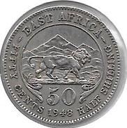 *east Africa 50 Cents 1948   Km 30    Xf - British Colony