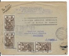 SOMALIS - 1941 - BLOCUS De DJIBOUTI - ENVELOPPE De DJIBOUTI Par AVION SPECIAL => MARSEILLE - Côte Française Des Somalis (1894-1967)